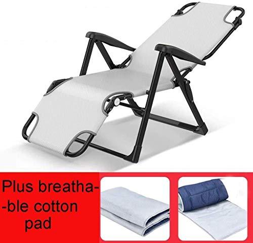 WFFF Silla de jardín plegable para sillas reclinables, sillas de jardín al aire libre, jardín, playa, césped, reclinable, camping, portátil, ajustable, de gravedad cero