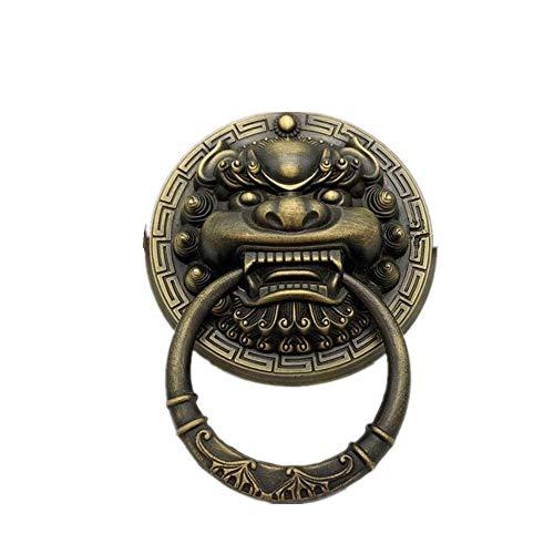 Cajón de la manija de la puerta manija de la puerta Aldaba de bronce antigua de la puerta de patio Dormitorio Mando Manija Decoración del Hogar (Color : Bronze, Size : 20cm)