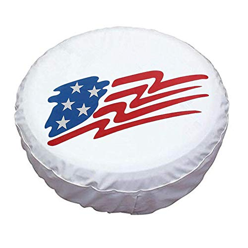 HEALiNK Spare Tire Cover 15 inch Waterproof PVC Leather Wheel Cover American Star Universal for Jeep Wrangler RV Trailers Toyota RAV4 Honda Hummer Car Tire Diameter 27-29 inch