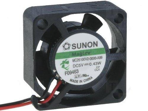 Sunon Ventilador 25X 25X 10mm mf25100V2A99DC 5V 9800U/DBA, 2Conectores