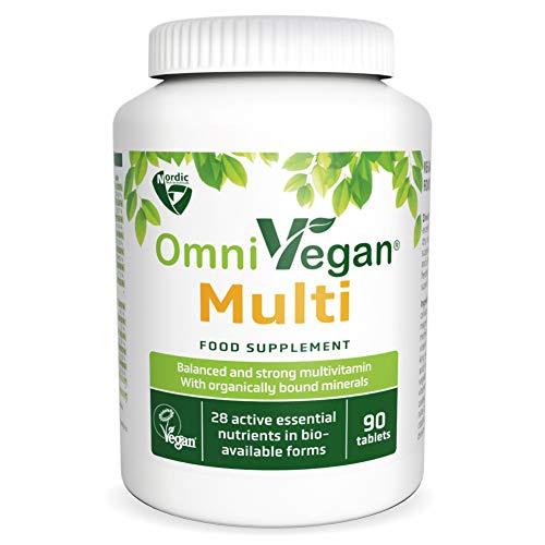 Nordic Nutraceuticals OmniVegan Multi Multivitamin 28 nutrients 90 Tablets