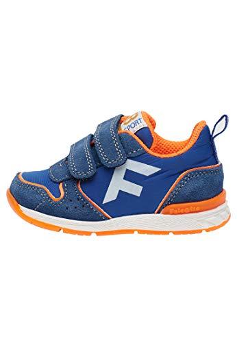 Falcotto HACK VL.-Sportlicher Sneaker aus Funktionsgewebe-Azurblau-Leuchtorange blau 21