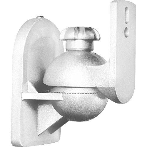 LUA Paar Universal Boxen Lautsprecher Wandhalter Wandhalterung weiß bis 3,5kg schwenkbar