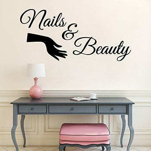 Nail Vinilo Vinilo Etiqueta de la pared Manicura Puerta Manicura Diseño Etiqueta de la pared Mariposa