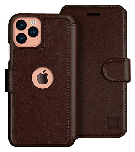 LUPA iPhone 11 Pro Wallet Case -Slim iPhone 11 Pro Flip Case with Credit Card Holder, iPhone 11 Pro Wallet Case for Women & Men, Faux Leather i Phone 11 Pro Purse Cases, Chocolate Brown