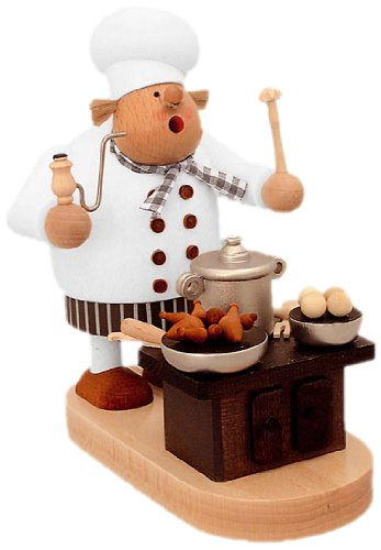 KWO German Incense Smoker Cook with oven - 20 cm / 8 inch - Authentic German Erzgebirge Smokers