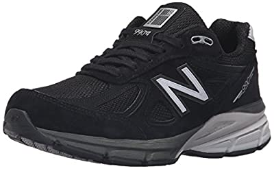New Balance Women's W990V4 Run Shoe-W, Black/Silver, 7 B US