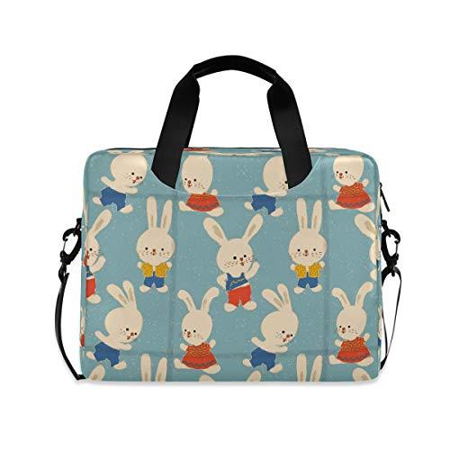 HMZXZ Funda para ordenador portátil de 13 a 14 a 15,6 pulgadas, diseño de conejos de dibujos animados