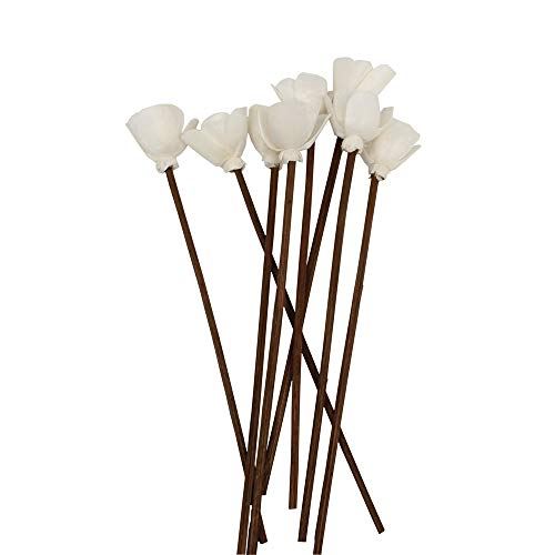 Jecengs Pack of 30 Brown Rattan Reed Fragrance Diffuser and Flower Replacement Refill Sticks