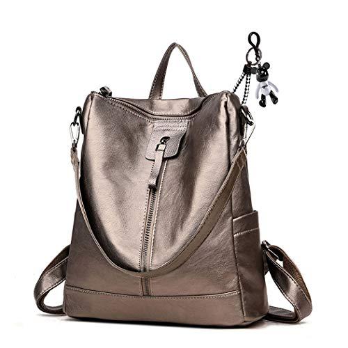 AINUOEY Damen Rucksackhandtaschen Elegant Anti Diebstahl Frau Damenhandtaschen Stadtrucksack Henkeltaschen Bräunen