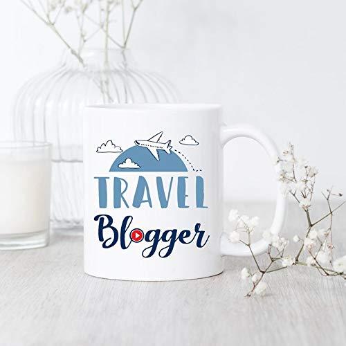 Taza de viaje Blogger Blogger Travel Blogger taza de viaje regalo Blogger Travel Blogger taza de café regalo para Blogger Youtuber