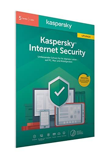 Kaspersky Internet Security 2020 Upgrade | 5 Geräte | 1 Jahr | Windows/Mac/Android | Aktivierungscode in frustfreier Verpackung