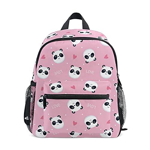 Mochila para niños, mochila escolar para niños y niñas, con diseño de oso panda, Panda 075, Talla única, Mochila infantil