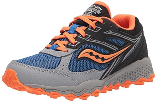 Saucony Cohesion TR14 LACE to Toe Hiking Sneaker, Black/Blue/Orange, 2.5 US Unisex Big Kid