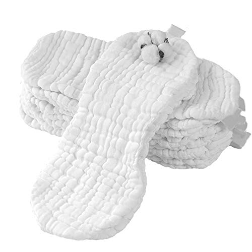 Timagebreze 9 Schichten ?Kologische Baumwolle Baby Windel Gaze Waschbare Neugeborene Stoff Weiche Windeln, 12 Artikel/Set