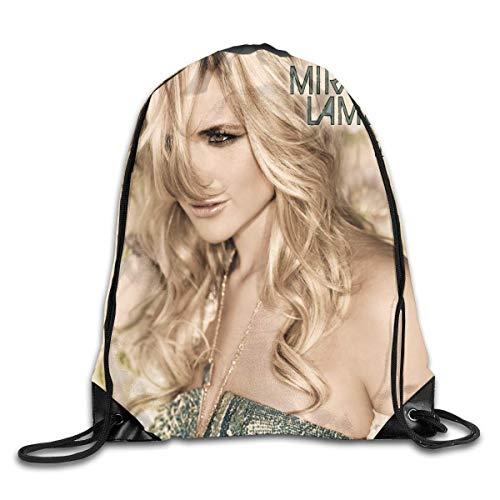 Hdadwy Miranda Lambert Fashion Backpack Design Shoulder Drawstring Bag Man Woman Bags White One Size