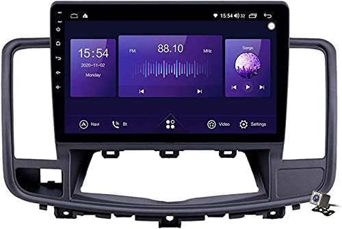 Dmnsdd Coche Estéreo Sat Android 10.0 Radio Para Nissan Teana 2008-2013, Gps Navigation Pure Play Unit Player Mp5 Multimedia Player Video Receptor Con 4g Wifi (Size:Cuatro nucleos,Color:WIFI:2GB+32GB)