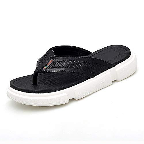 Luyangyund Sandalias deportivas para hombre Flip-Flop para interior y exterior de piel OX, Negro, 95