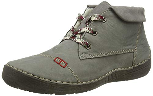 Rieker Damen 52524 Mode-Stiefel, grau, 38 EU