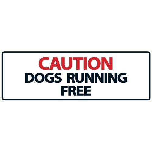 Magnet & Steel Panneau « Caution Dogs Running Free »