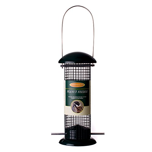 Johnston & Jeff Wild Bird - Mangiatoia per semi d'arachide (30cm) (Nero)