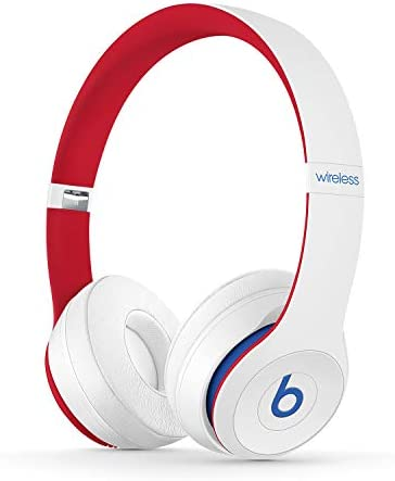 Beats Solo3 Wireless On-Ear Headphones - Apple W1 Headphone Chip, Class 1 Bluetooth, 40 Hours of Listening Time, Built-in Microphone - Red (Latest Model)