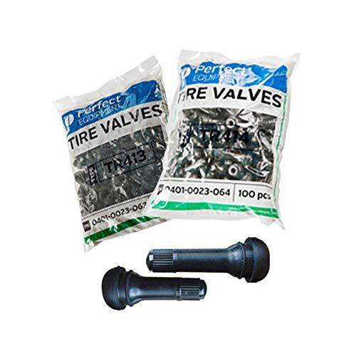 Válvulas neumaticos TR413 y TR414 (100 Cada una) PerfectEquipment, Válvulas para neumaticos, válvula de Goma TR413&414