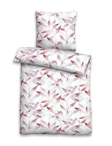 biberna 0076057 Single-Jersey Bettwäsche Garnitur mit Kopfkissenbezug (Baumwolle) 1x 155x220 cm + 1x 80x80 cm, gelb