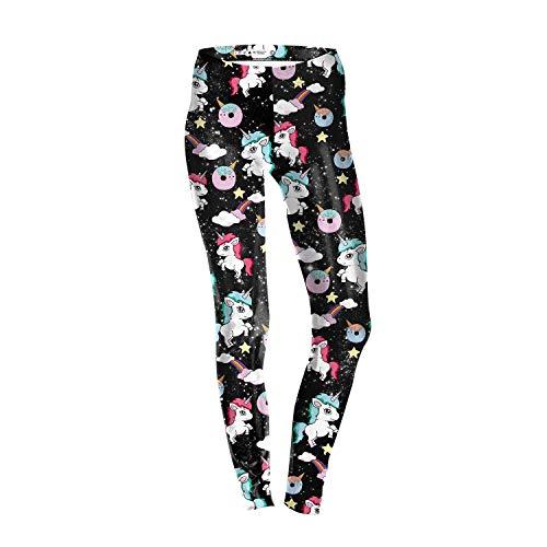 MAOYYMYJK Pantalones De Yoga para Mujer Womens Yoga Pants Leggings Finos Delgados De Impresión Digital 3D Unicornio De Verano