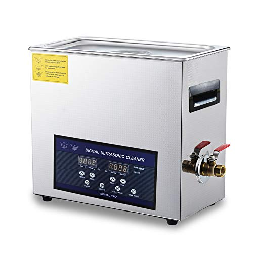 Ultrasonic Carburetor Cleaner 28/40khz Dual Frequency Cleaner 6L Stainless Steel Digital Lab Ultrasonic Cleaners with Timer Heater LED Screen