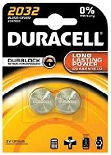 DURACELL Cr2032 Lot de 2 piles de montre au lithium