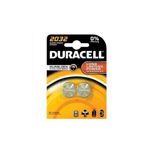 DURACELL Cr2032 Lot de 2 piles de montre au lithium