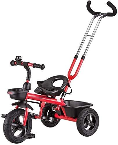 GAOTTINGSD Cochecitos de bicicleta para niños, cochecitos, triciclos para niños de 18 a 6 años de edad, con pedal desmontable (color: #1)