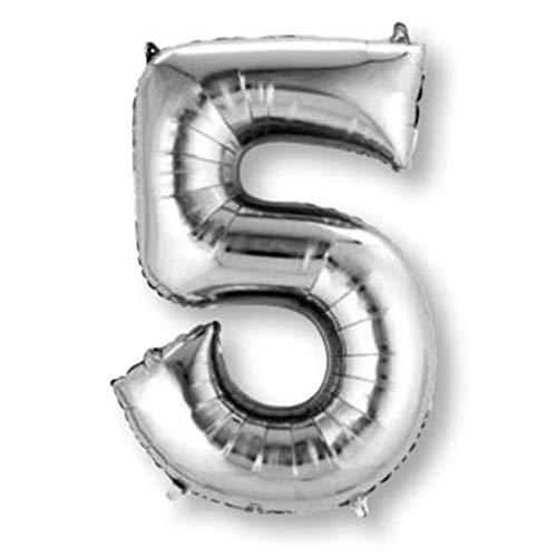 amscan Ballon Mylar Argent Chiffre 5 - Taille Unique