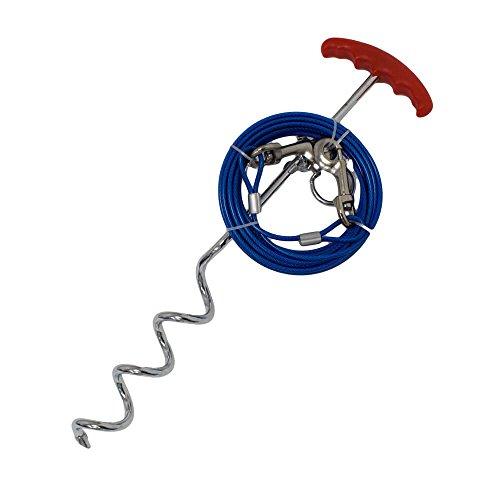 Rinderohr Bohranker Anker Bodenanker Erdanker Spiralanker - mit 6m Stahlseil