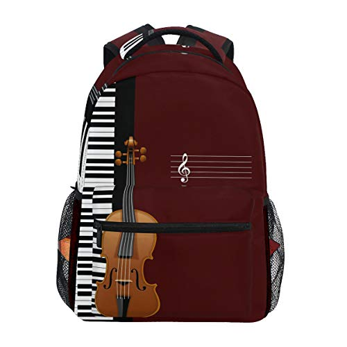 Ahomy - Mochila de Piano, violín, Notas Musicales, Mochila
