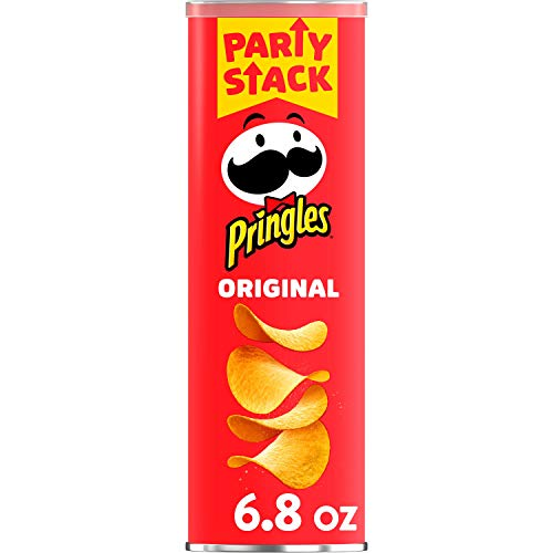 Pringles Potato Crisps Chips, Lunch Snacks, Snacks On The Go, Party Stack, Original, 6.8oz Can (1 Can)