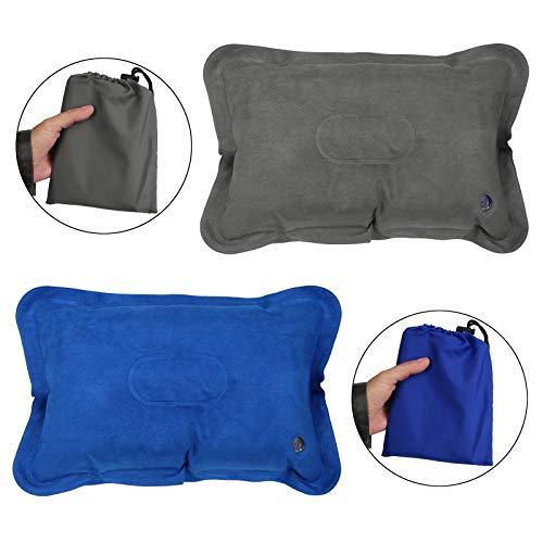 ALPIDEX Aufblasbare Reisekissen im 2er Set leichtes Campingkissen mit weicher Oberfläche inkl. Aufbewahrungsbeutel kleines Packmaß
