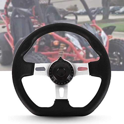ORETG45 Kart-Lenkrad, Off-Road-Kart-Lenkrad, ATV-Kart-Lenkrad, 270 mm, 3 Speichen, Fahrzeug-PU-Schaum für ATV, Go-Kart passt für 150-250-cm³-Motoren.