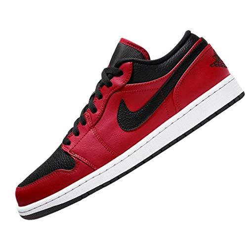 Nike Air Jordan 1 Low, Zapatillas De Bsquetbol Hombre, Gym Red Black White, 42.5 Eu