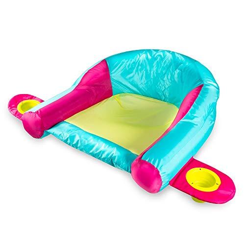 SwimWays AquaLinx Floats - Interlocking Swim Loungers for Pool or Lake - Pink