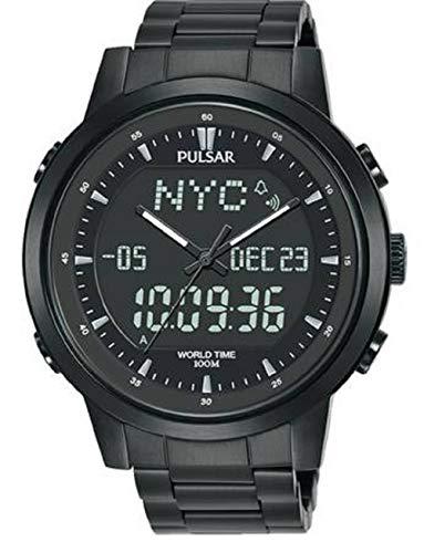 Pulsar Herren Analoger Quarz Uhr mit Edelstahl Armband PZ4061X1