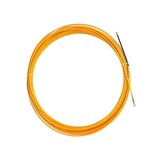 Guia Pasacables 5/10/15/20/25/30M 3Mm Tirador Cable Cinta Pescado Cable Amarillo Fibra Vidrio...
