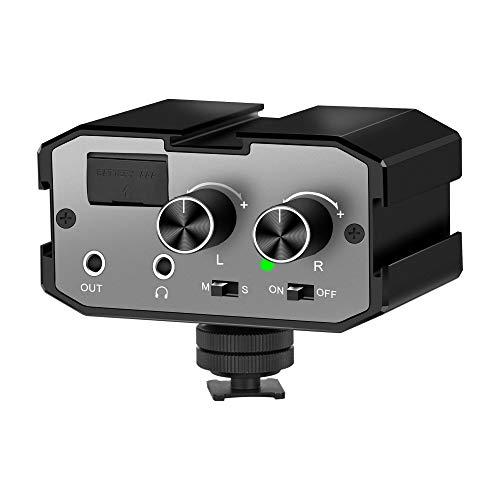 Comica 2 Canales en el Micrófono Mezclador Audio CVM-AX1 Mono/Estéreo Adaptador Universal...