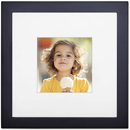 Ophanie 8x8 Picture Frame, Photo Frame Made of Solid Wood and High Definition Plexiglass for Wall Display Pictures