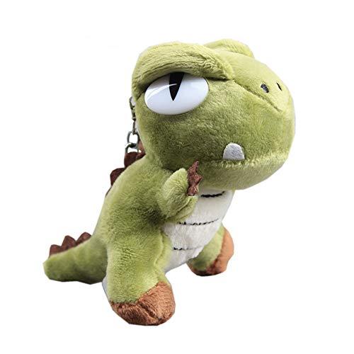 uiuoutoy Dinosaurier Schlüsselbund Plüsch Schlüsselanhänger Dino Kuscheltier Puppe Tasche Anhänger Schlüsselring Stoffspielzeug Geschenk (Grün)