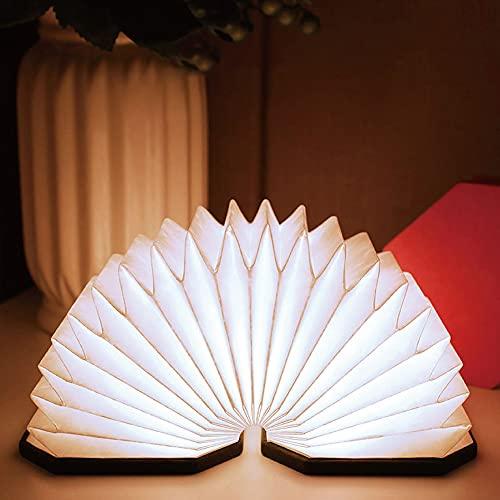 Lámpara de lectura LED, luz nocturna 2,5 W, 3D, plegable, USB con degradado de color, lámpara europea, lámpara de ambiente
