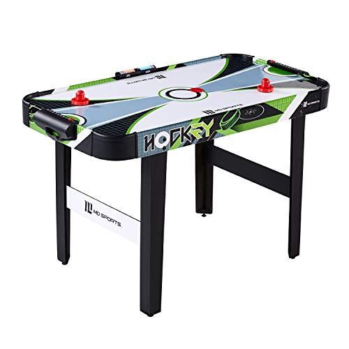 "MD Sports 48"" Air Powered Hockey Table with LED Electronic Scorer, Black/Green, 48'' (AH048Y19005)"
