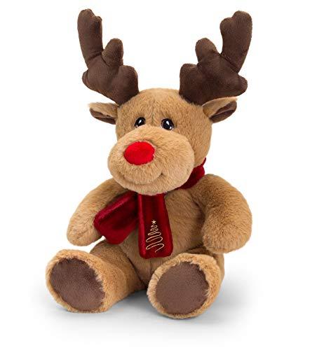 Keel Toys SX6364AM Soft Toy Keeleco Reindeer W/Scarf