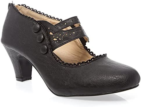 High heel mary jane shoes